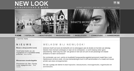 webdesign New Look Hairdressers